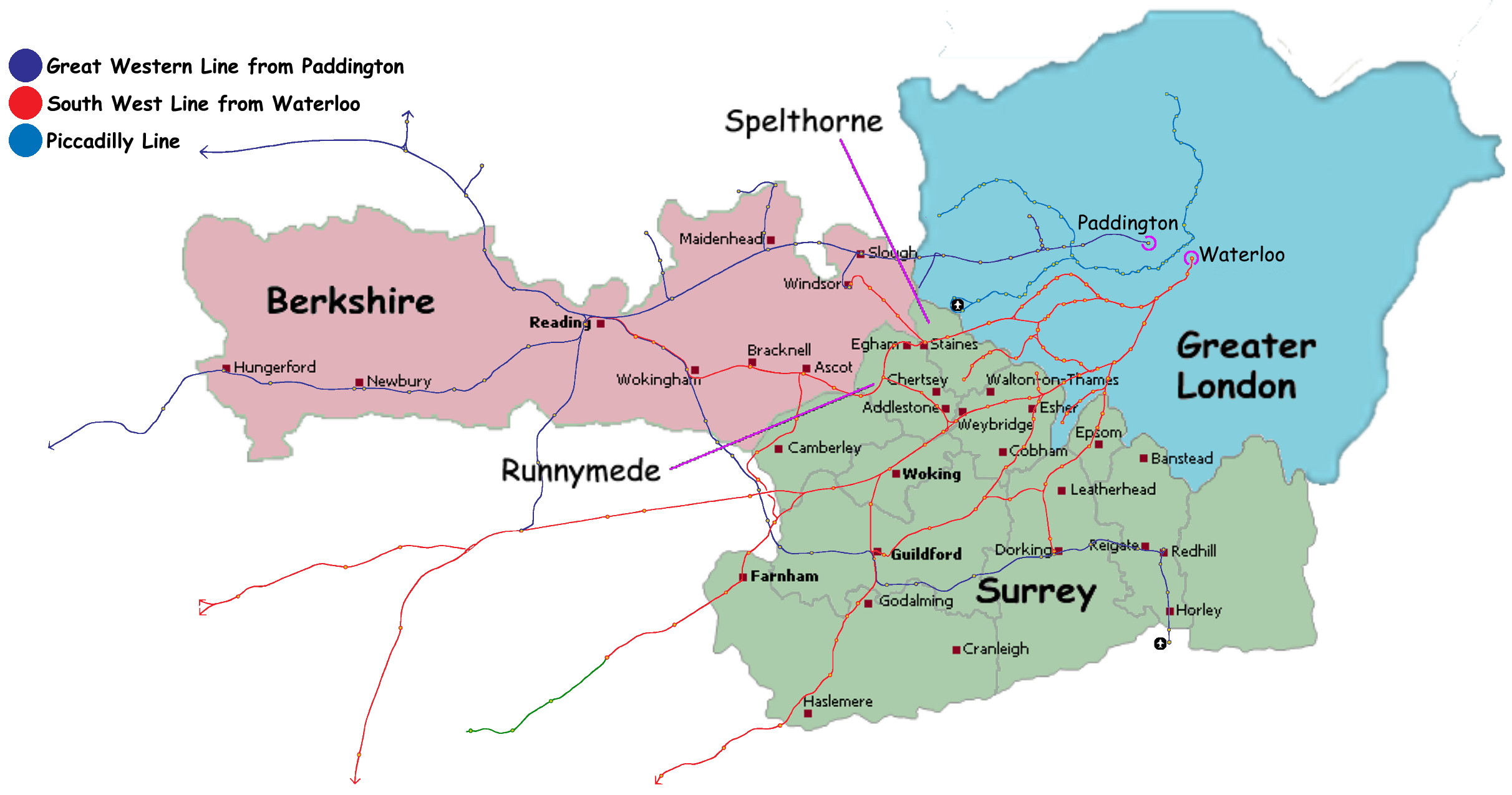Map of surry for The berkshire