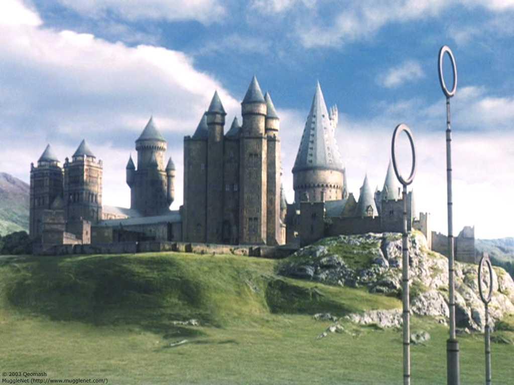 film version of Hogwarts, showing clusters of fantastical, alien ...